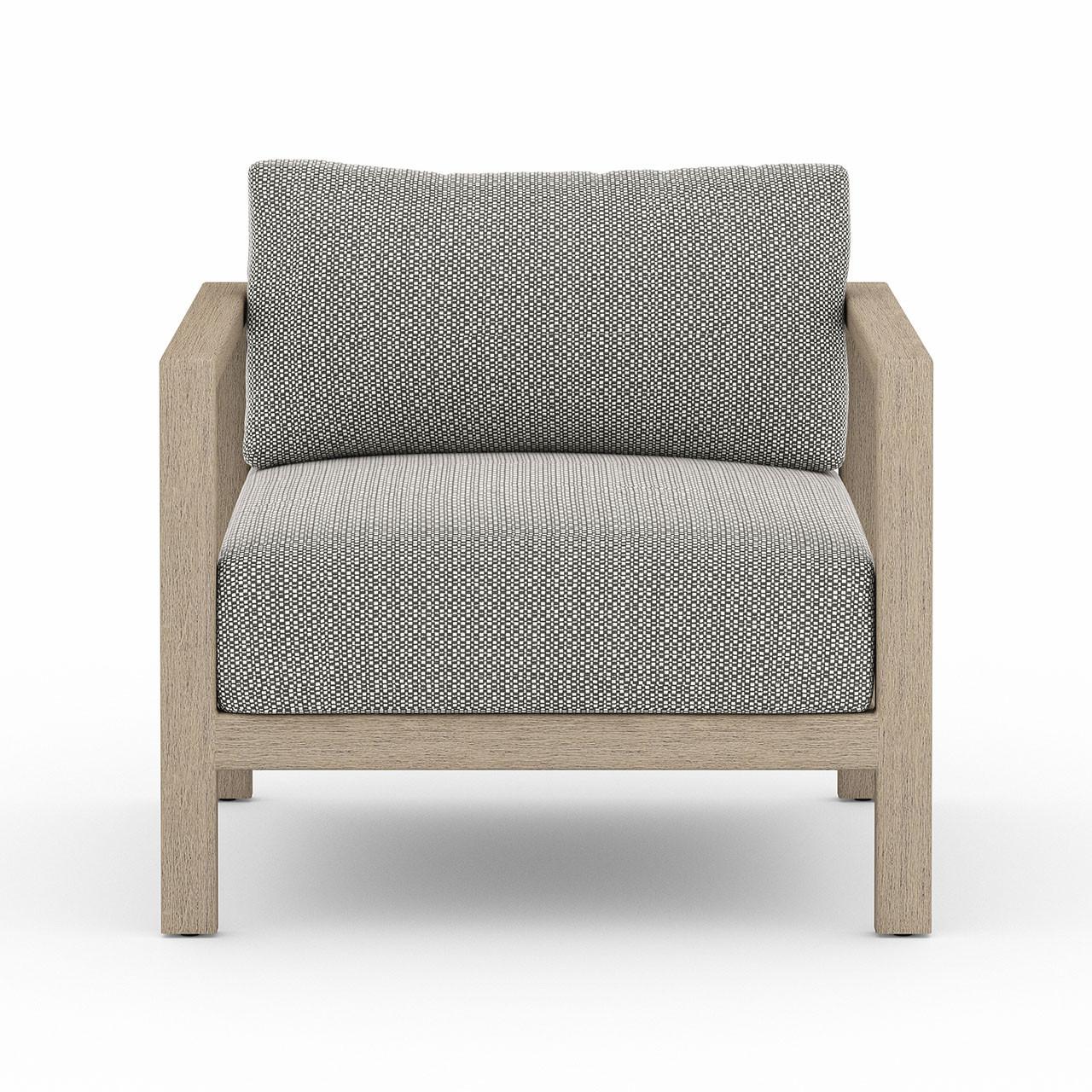 Oceanside Outdoor Teak Lounge Chair - Washed Brown