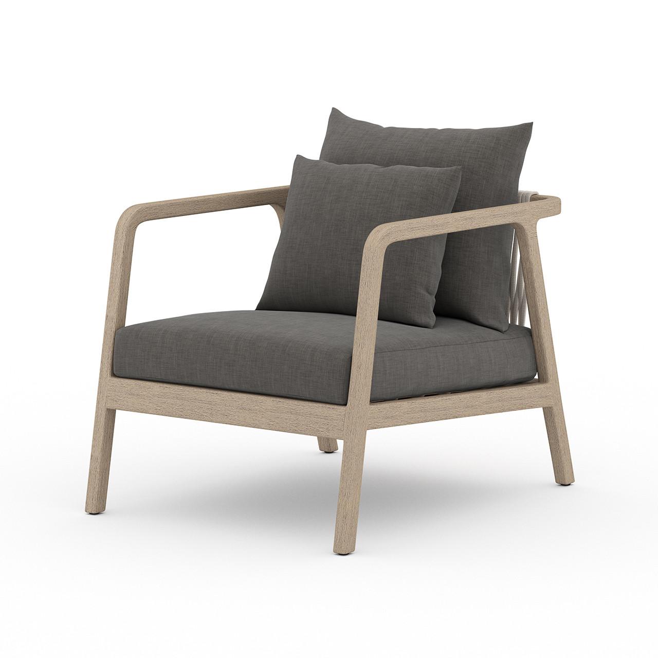 La Palma Teak Outdoor Lounge Chair - Washed Brown