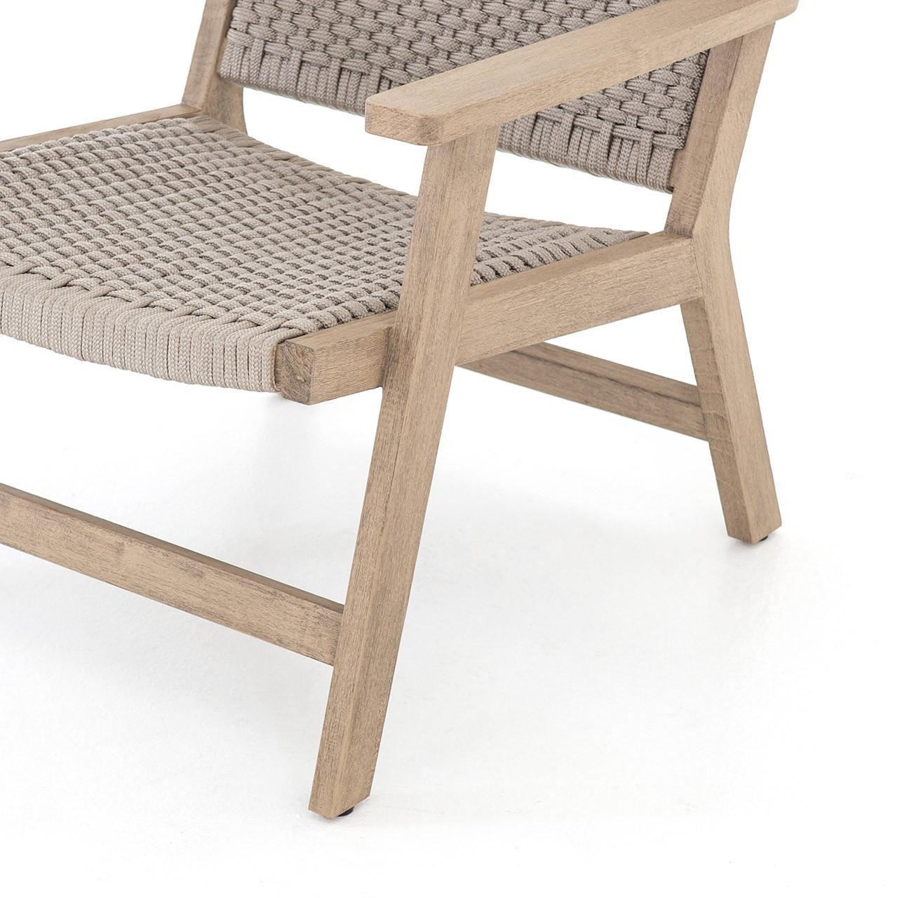 Teak Tamarack Outdoor Lounge Chair + Ottoman - Sand