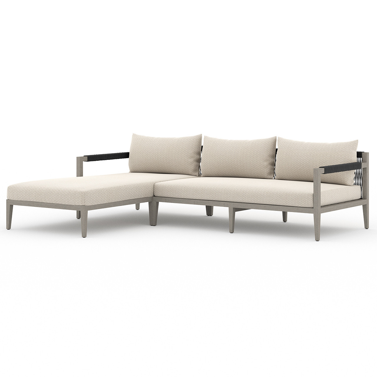 Silhouette Outdoor 2-Piece Sectional - Weathered Grey