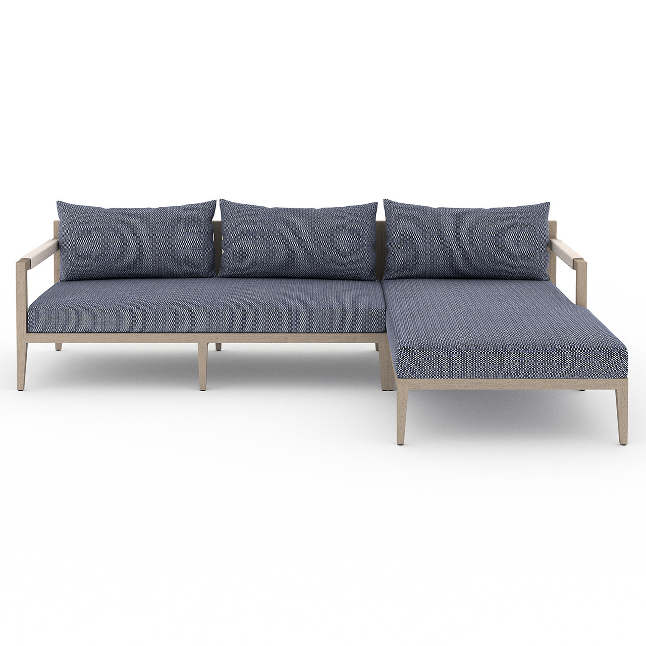 Silhouette Outdoor 2-Piece Sectional - Washed Brown