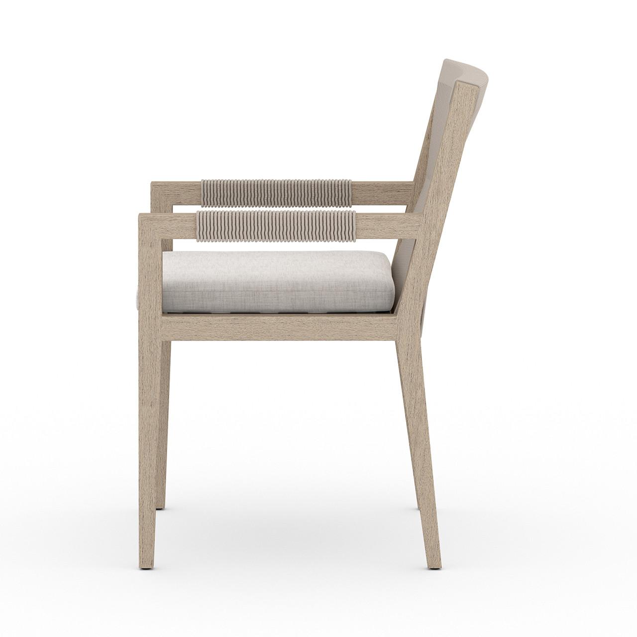 Silhouette Teak Outdoor Dining Armchair