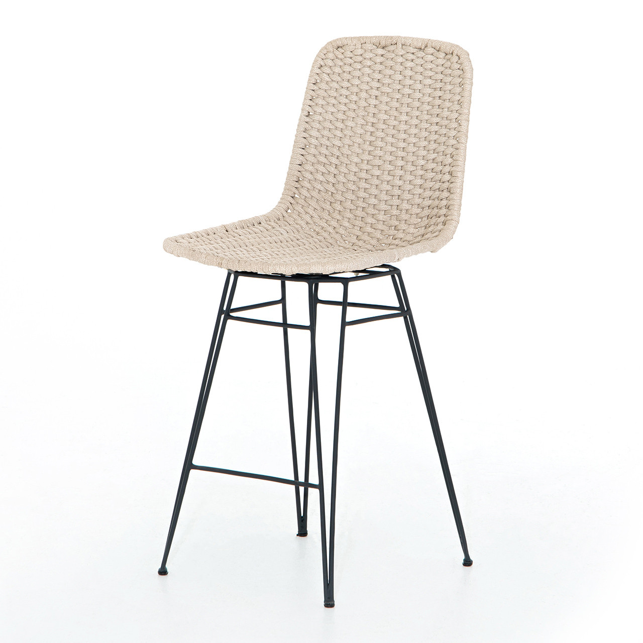 Piazza Rope Outdoor Swivel Bar Counter Stool