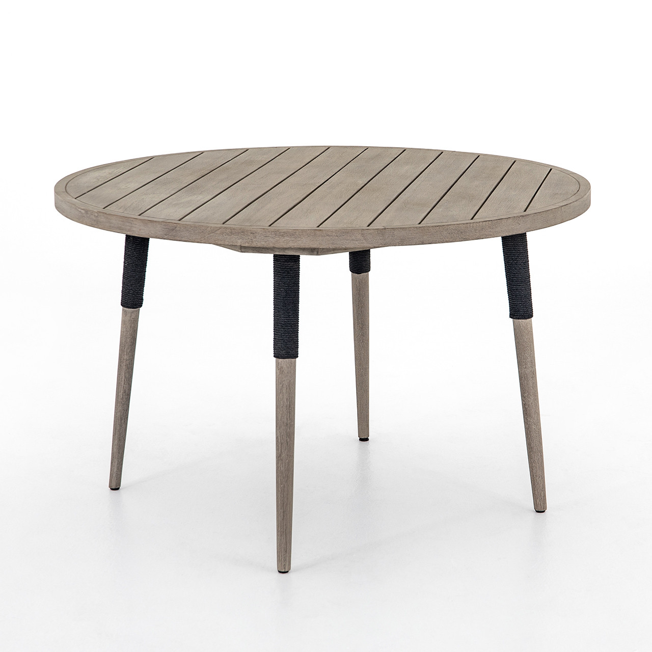 Silhouette Teak Outdoor Round Dining Table Free Shipping