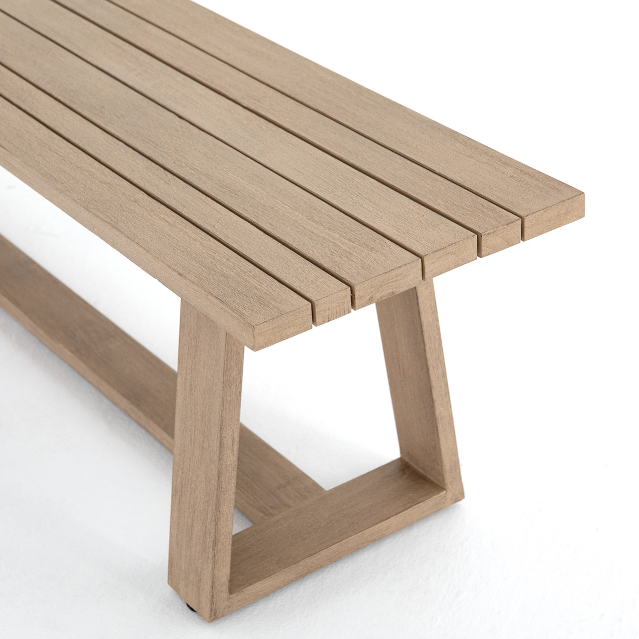 Picture of: Solano Teak Outdoor Dining Bench Free Shipping
