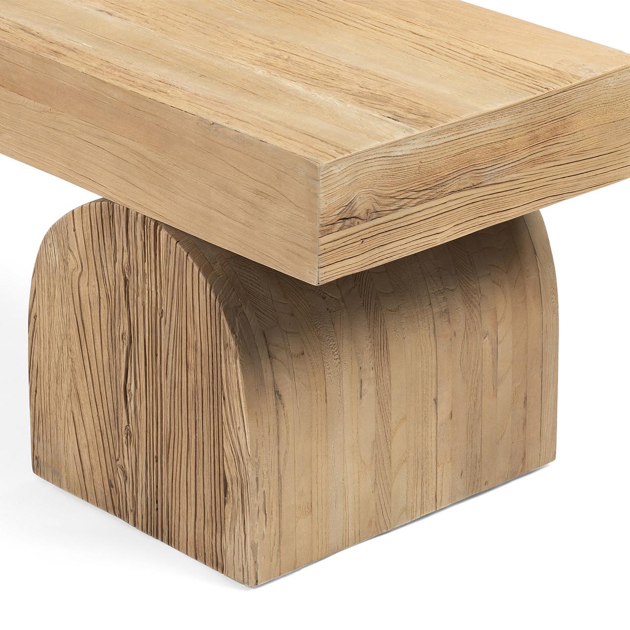 Kiara Bench Natural Elm Wood
