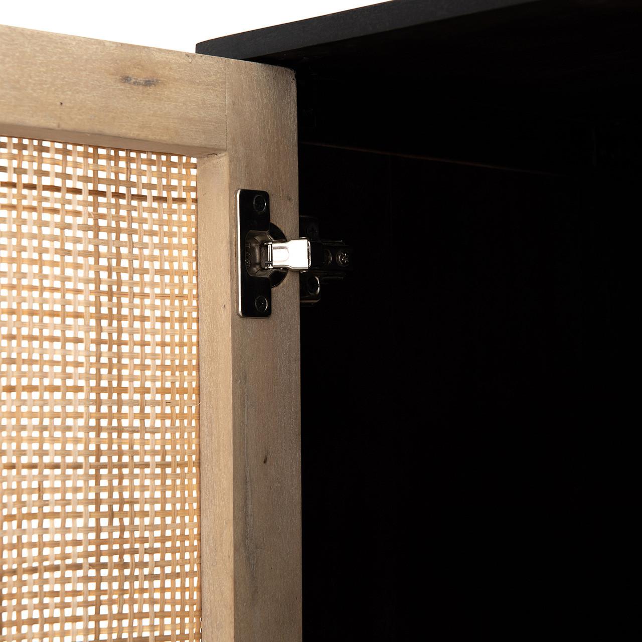 Bondi Cane Tall Storage Cabinet