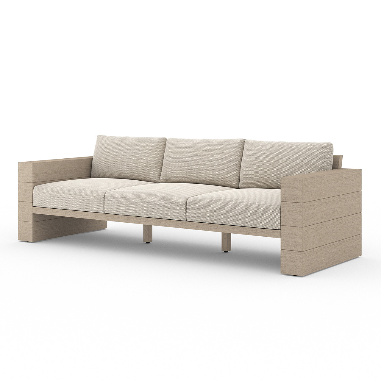 Royce Teak Outdoor Sofa - Washed Brown