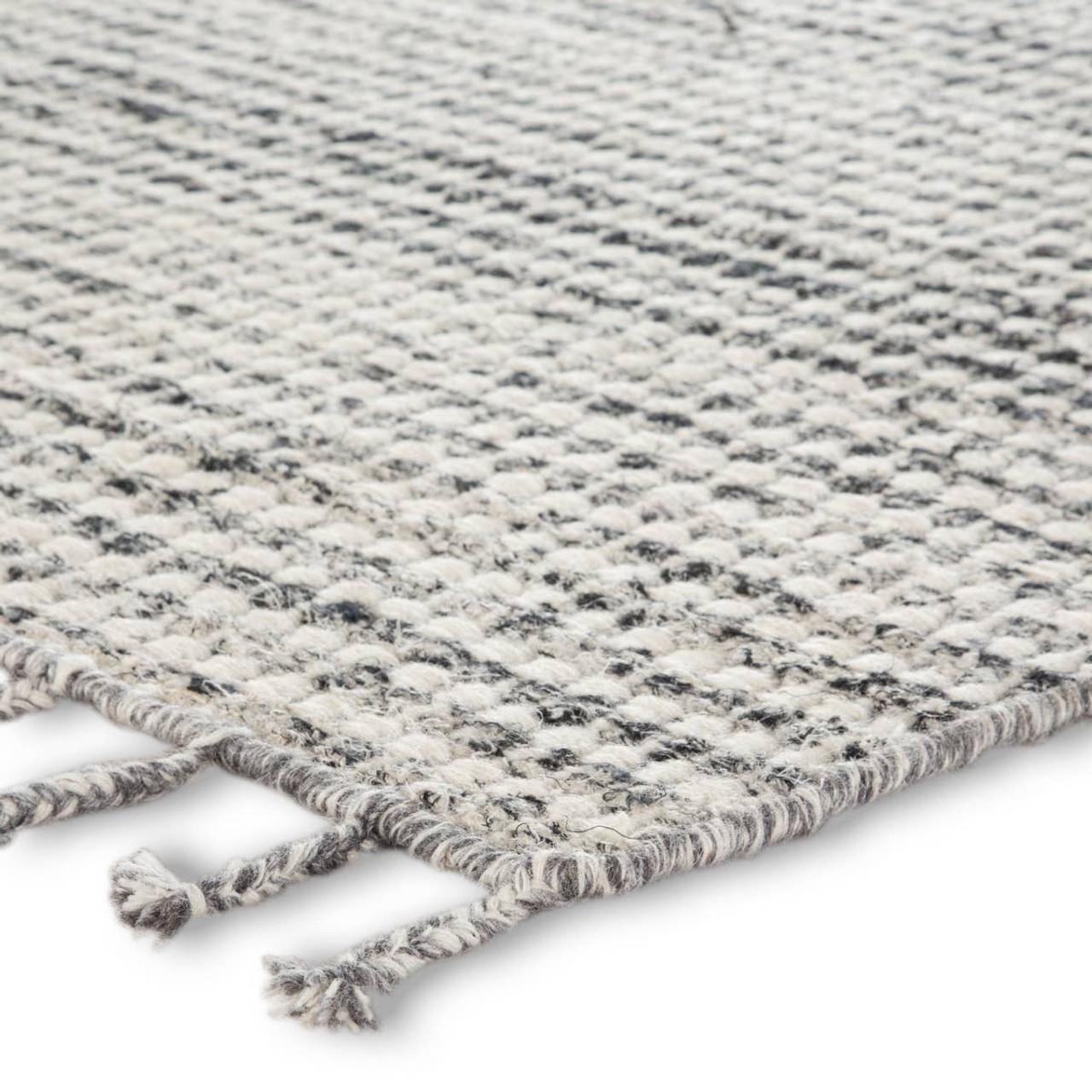 Rori Wool Fringe Rug - grey