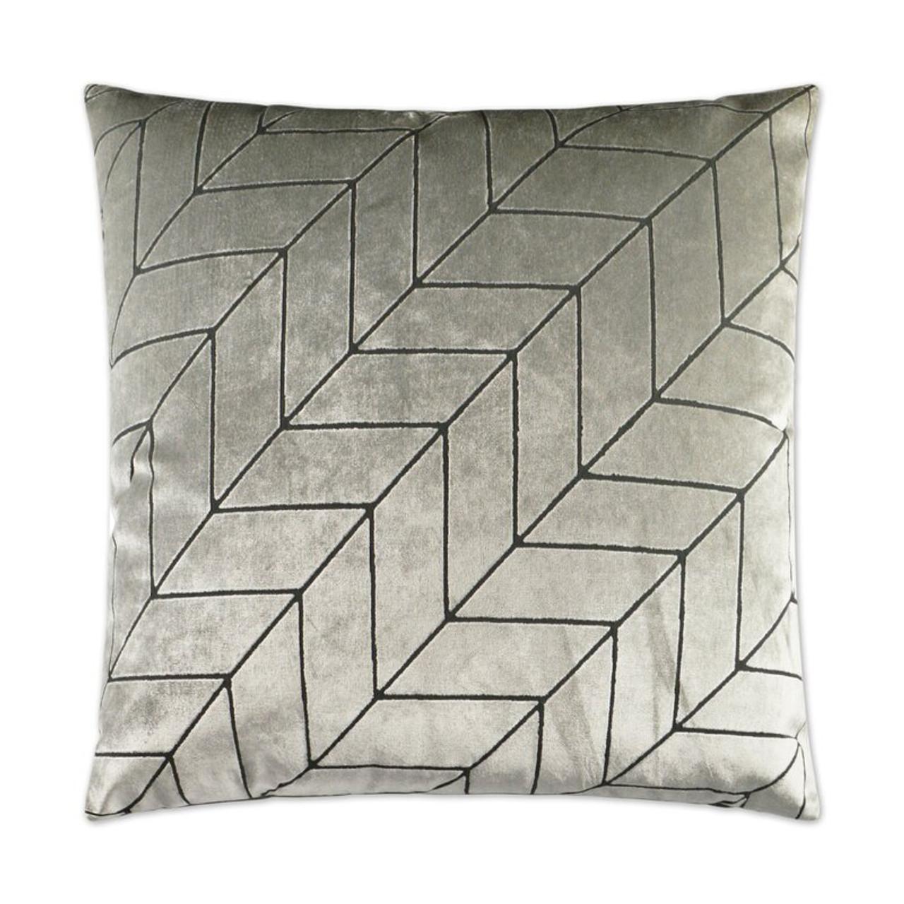 Villa Geometric Throw Pillow - Silver