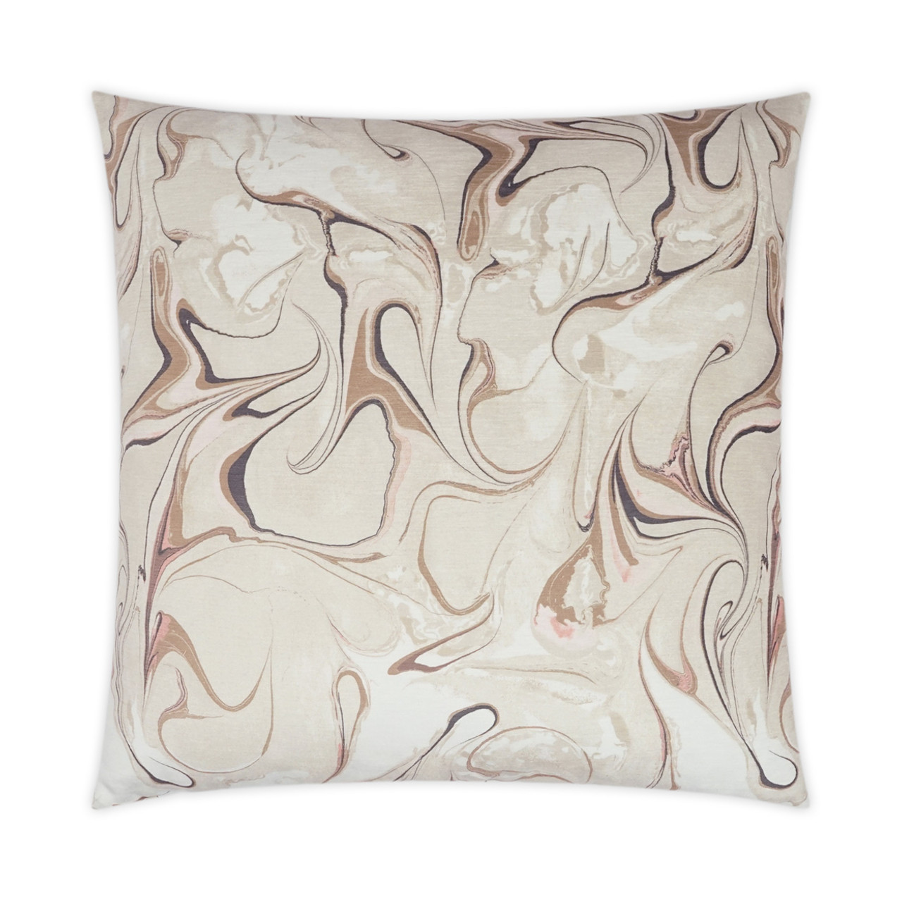 Oil Petal Throw Pillow