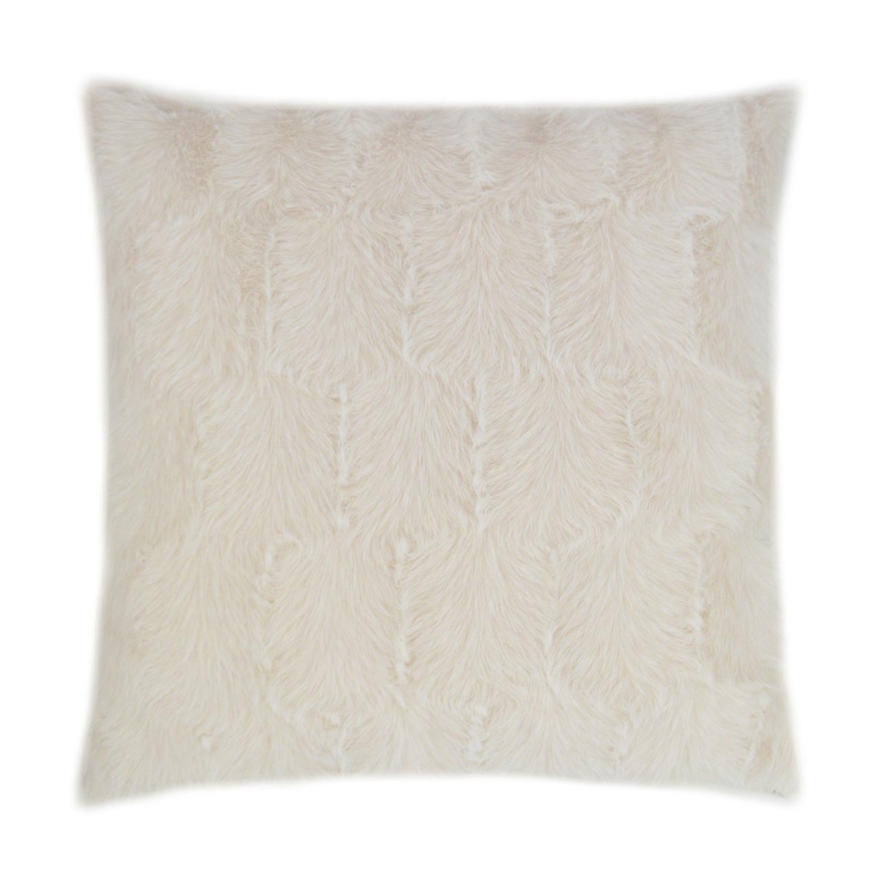 Ermelo Faux Fur Throw Pillow - Opal