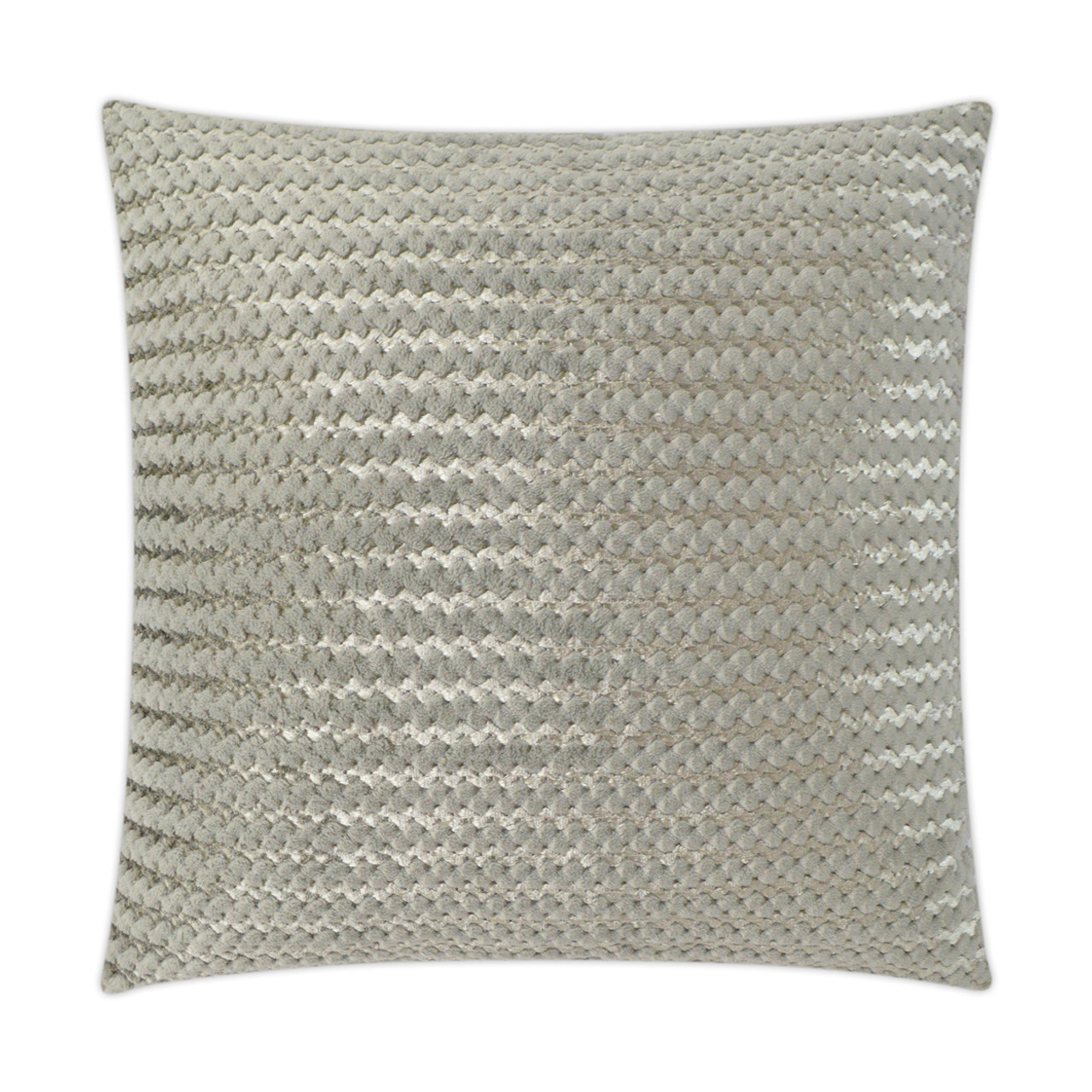 Gene Faux Fur Throw Pillow - Grey