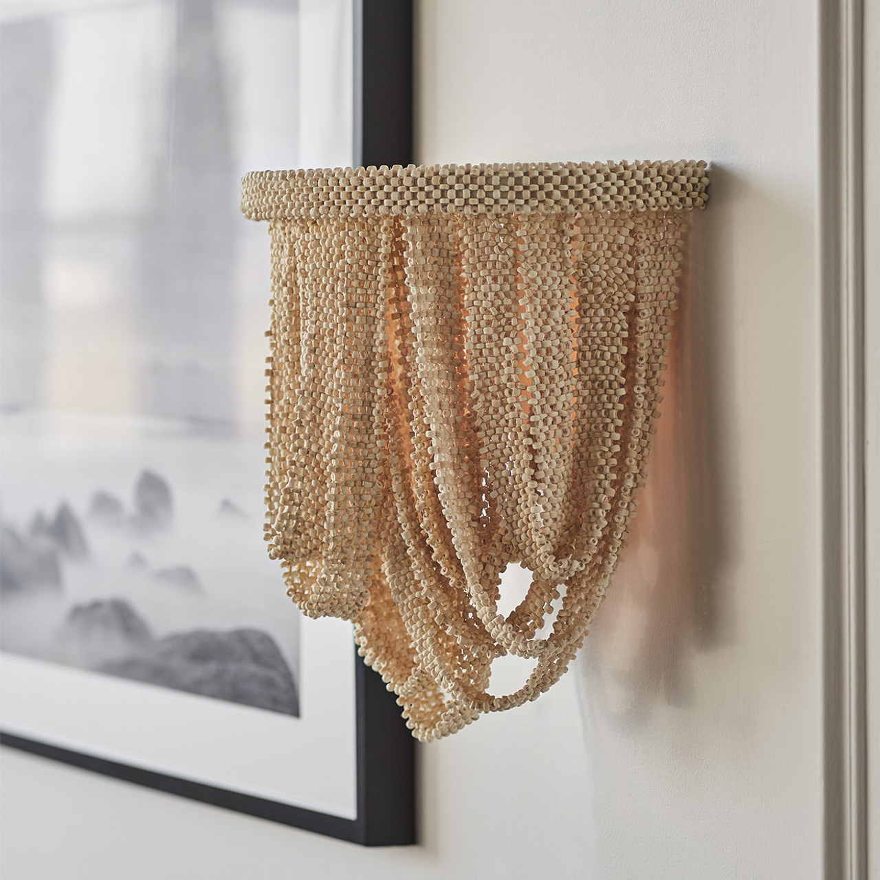 Catalina White Bead Sconce