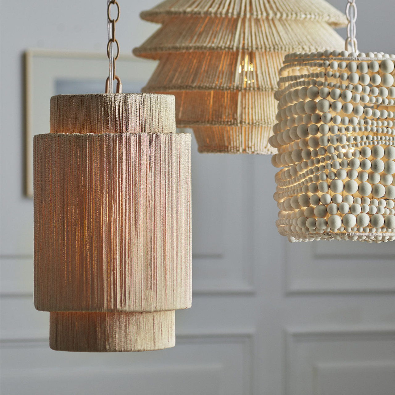 Abaca Rope Pendant - Small