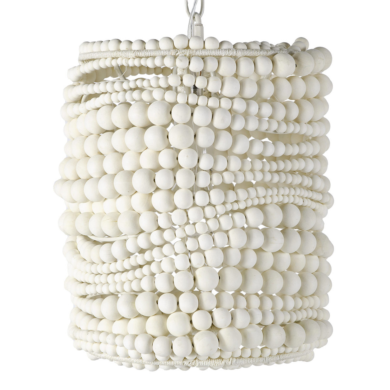Crystal Cove White Bead Pendant - Small