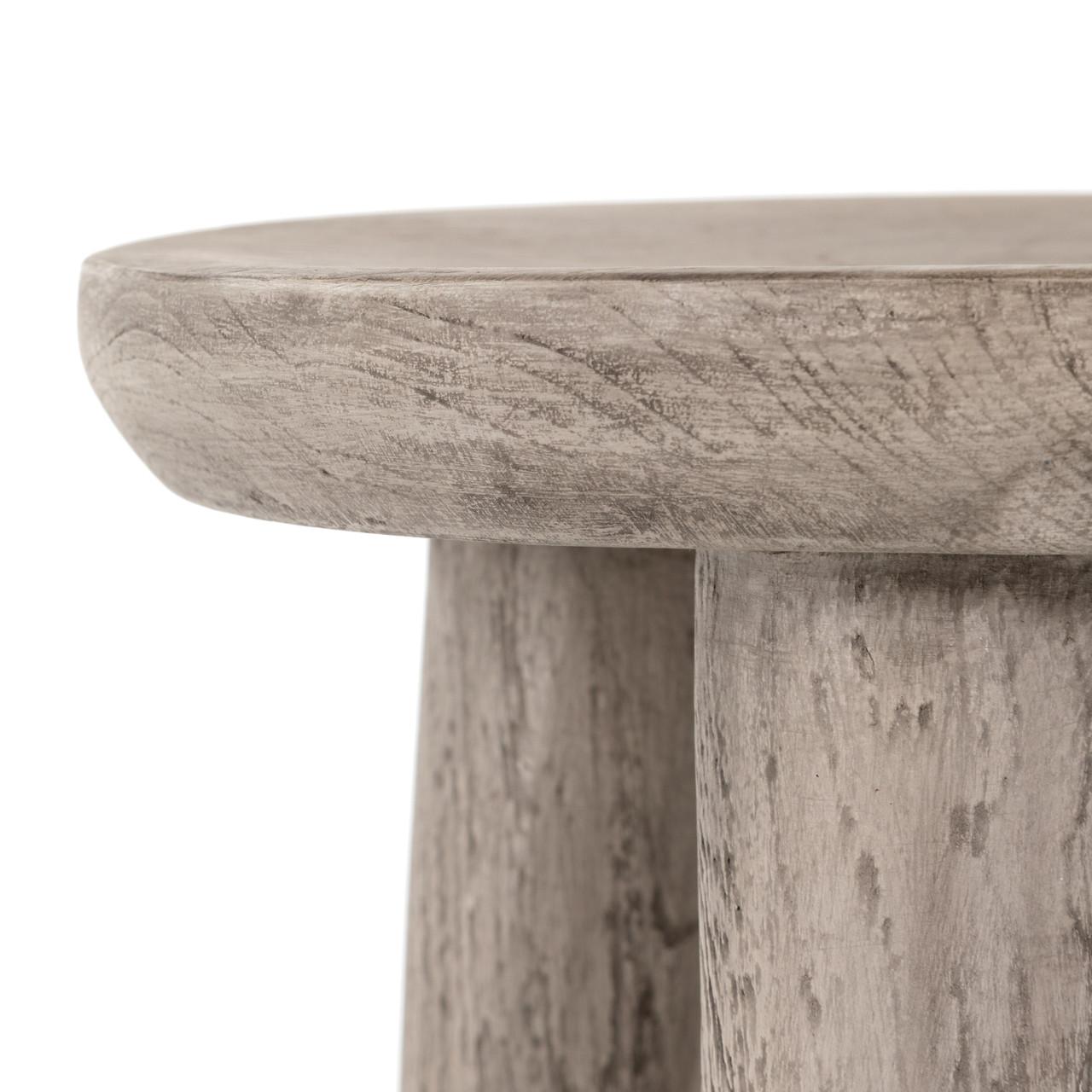 Zuri Round Teak Outdoor Stool Table