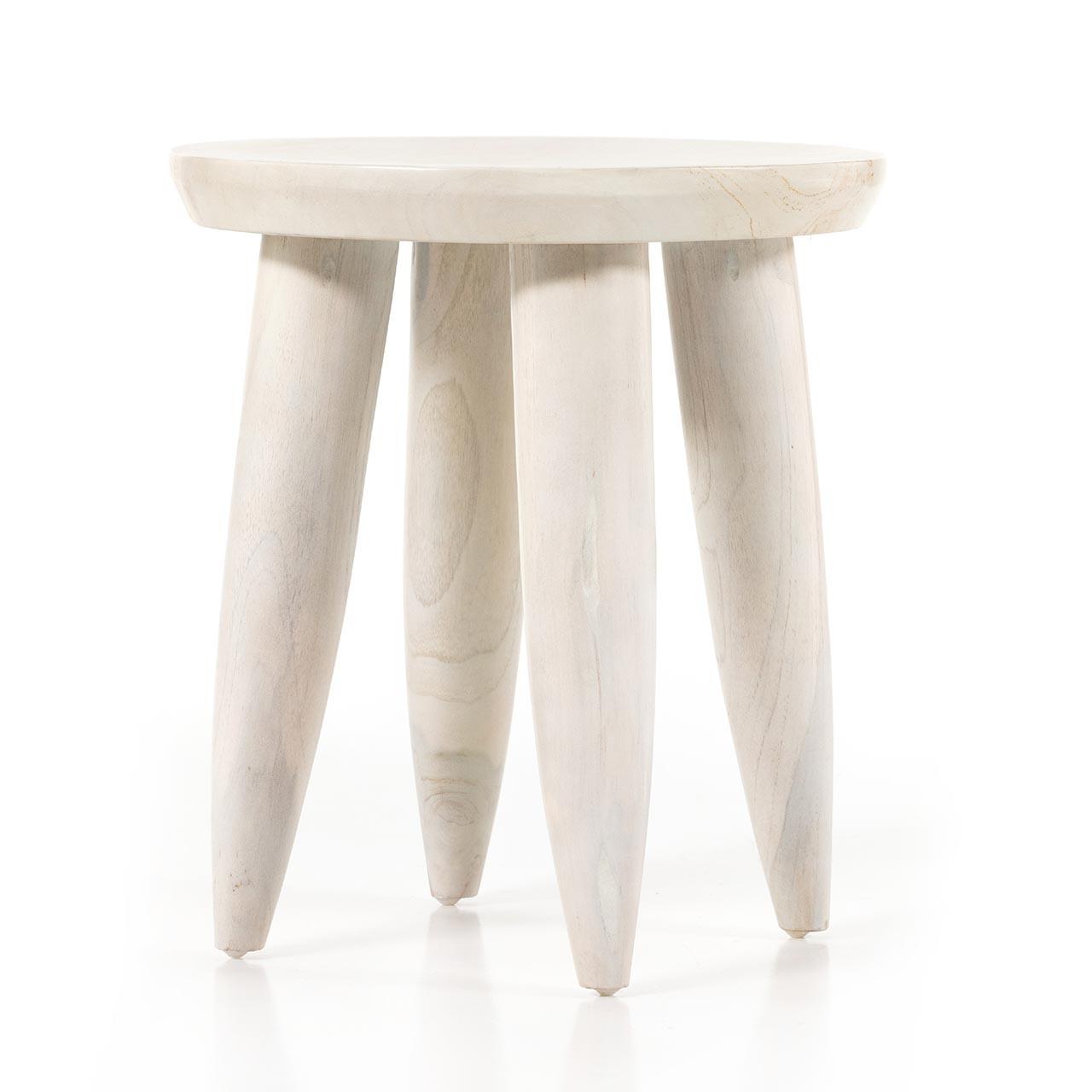 Zephier Round Teak Outdoor Stool Table