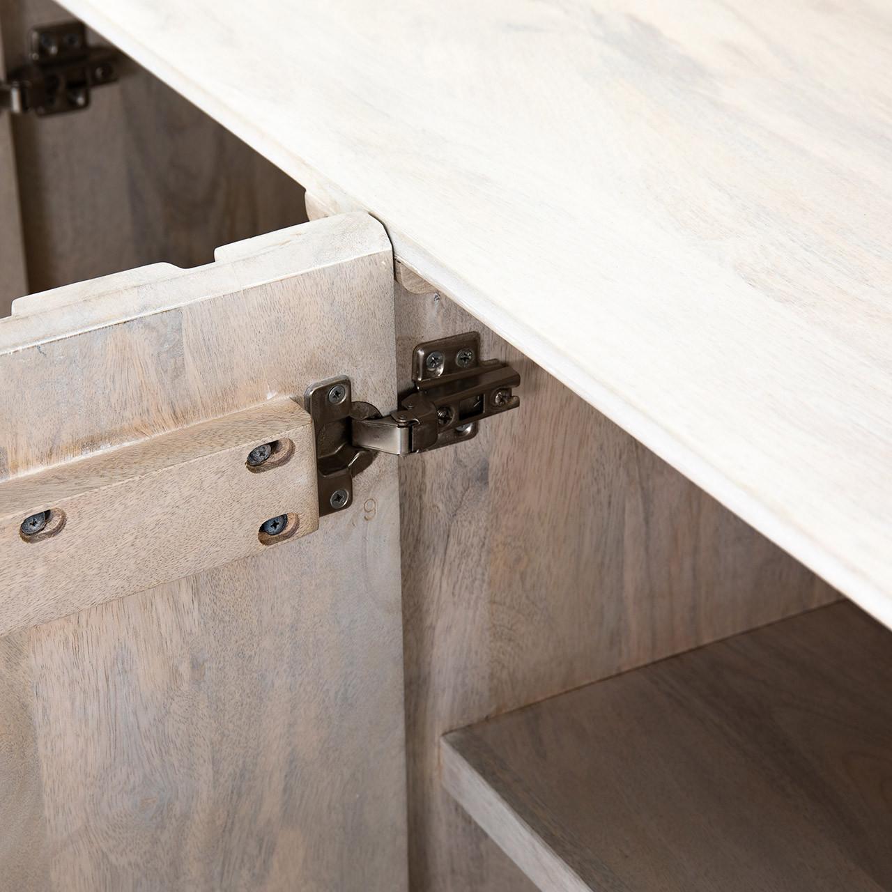 Calypso Media Storage Sideboard - White Wash