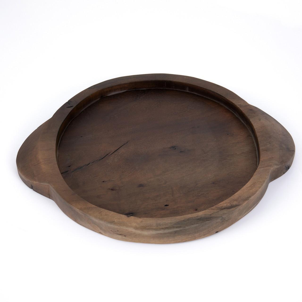 Tadeo Round Tray-Ochre