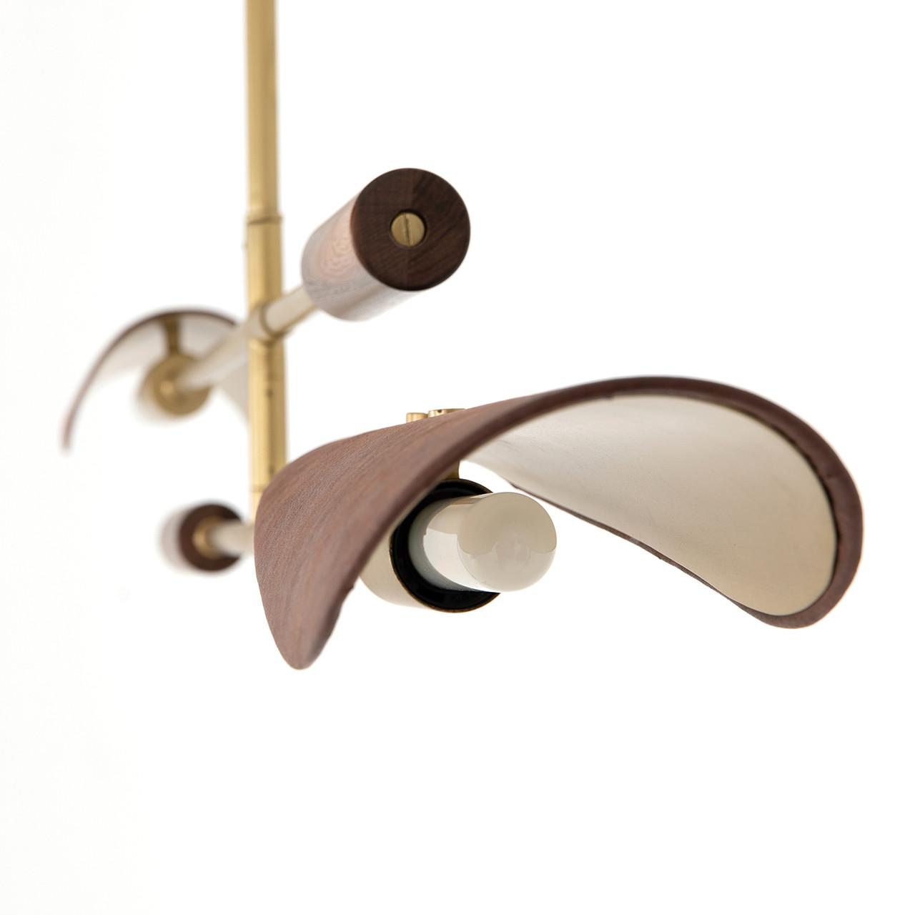 Luxe Chandelier - Dark Brown Leather