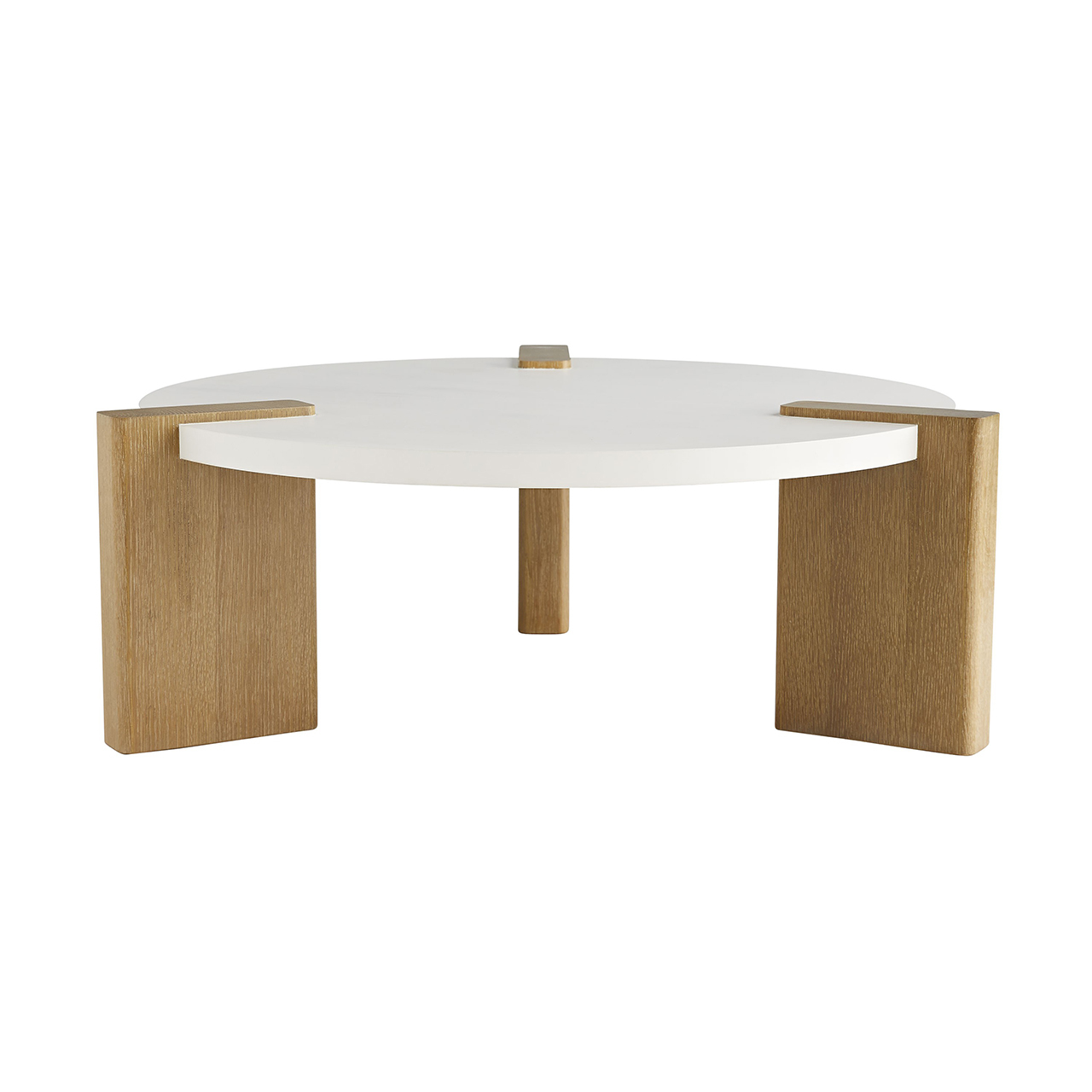 Crown Playa White Oak Round Coffee Table