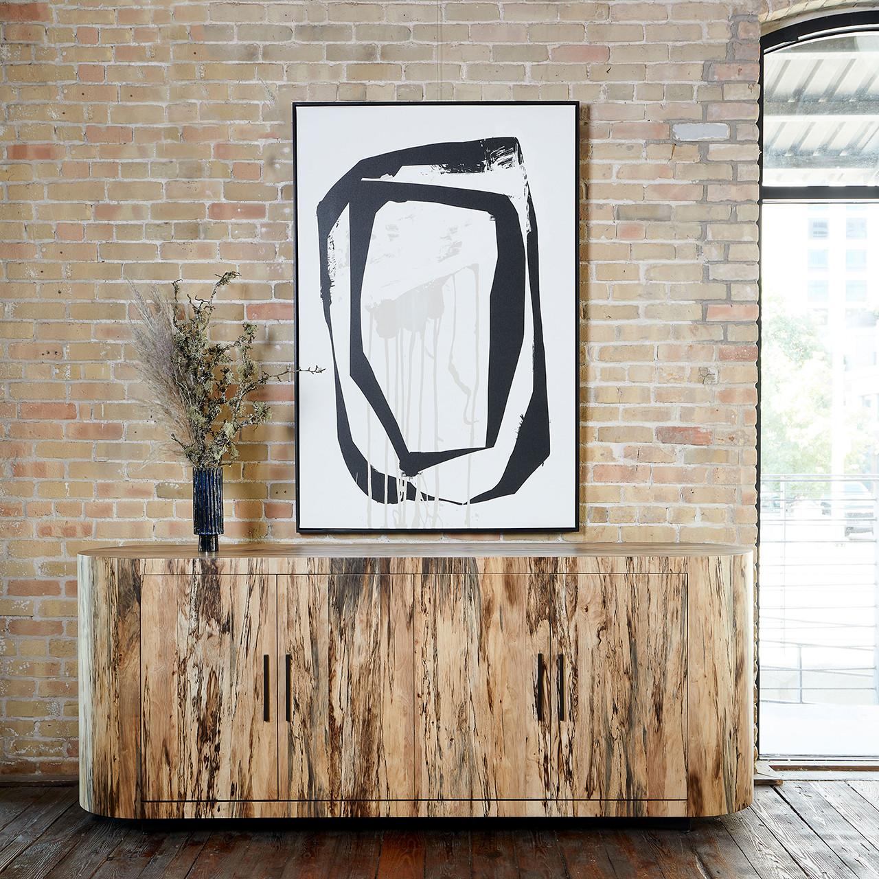 Blanco Curved Sideboard