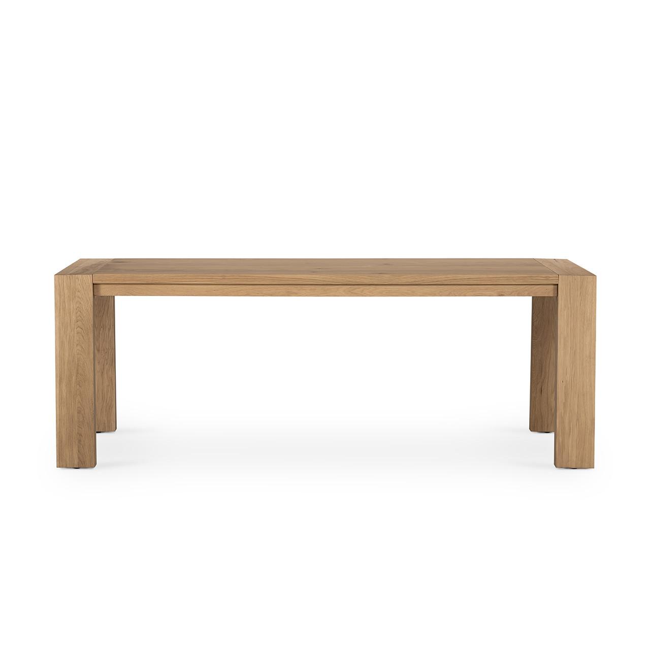Capra Dining Table - Light Oak Resin
