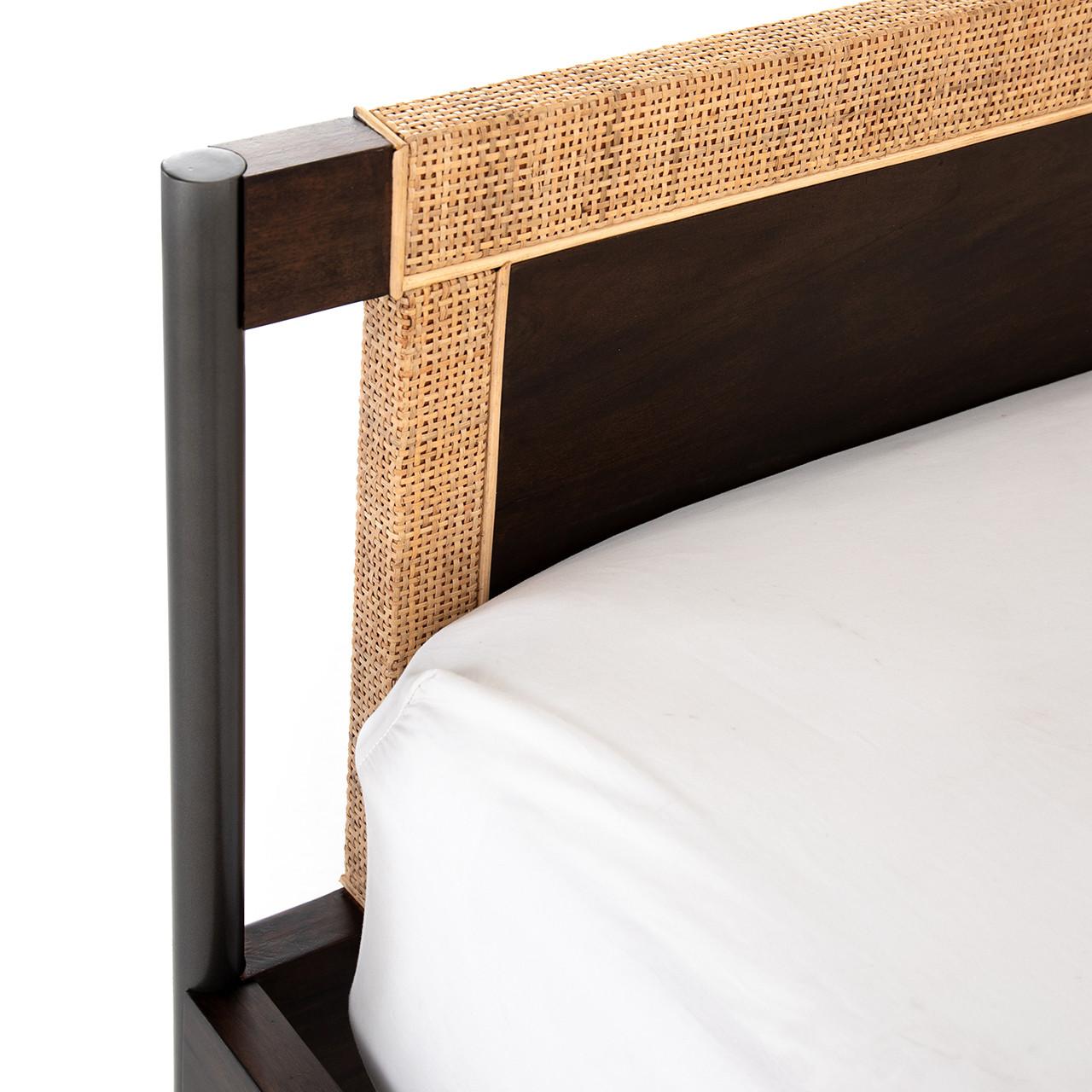Jordan Natural Cane and Iron Bed