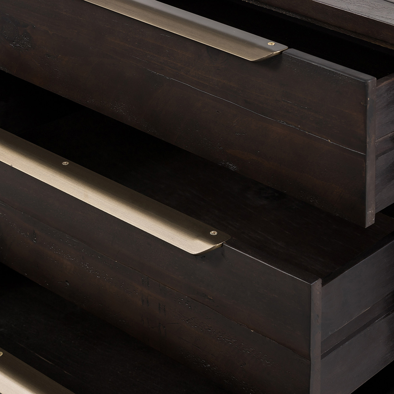 Seoul 3 Drawer Dresser - Dark Carbon