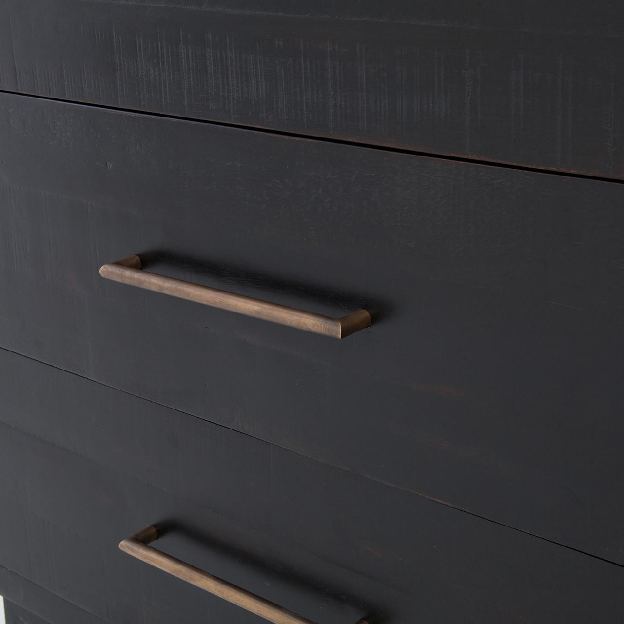 Sully 6 Drawer Dresser - Black