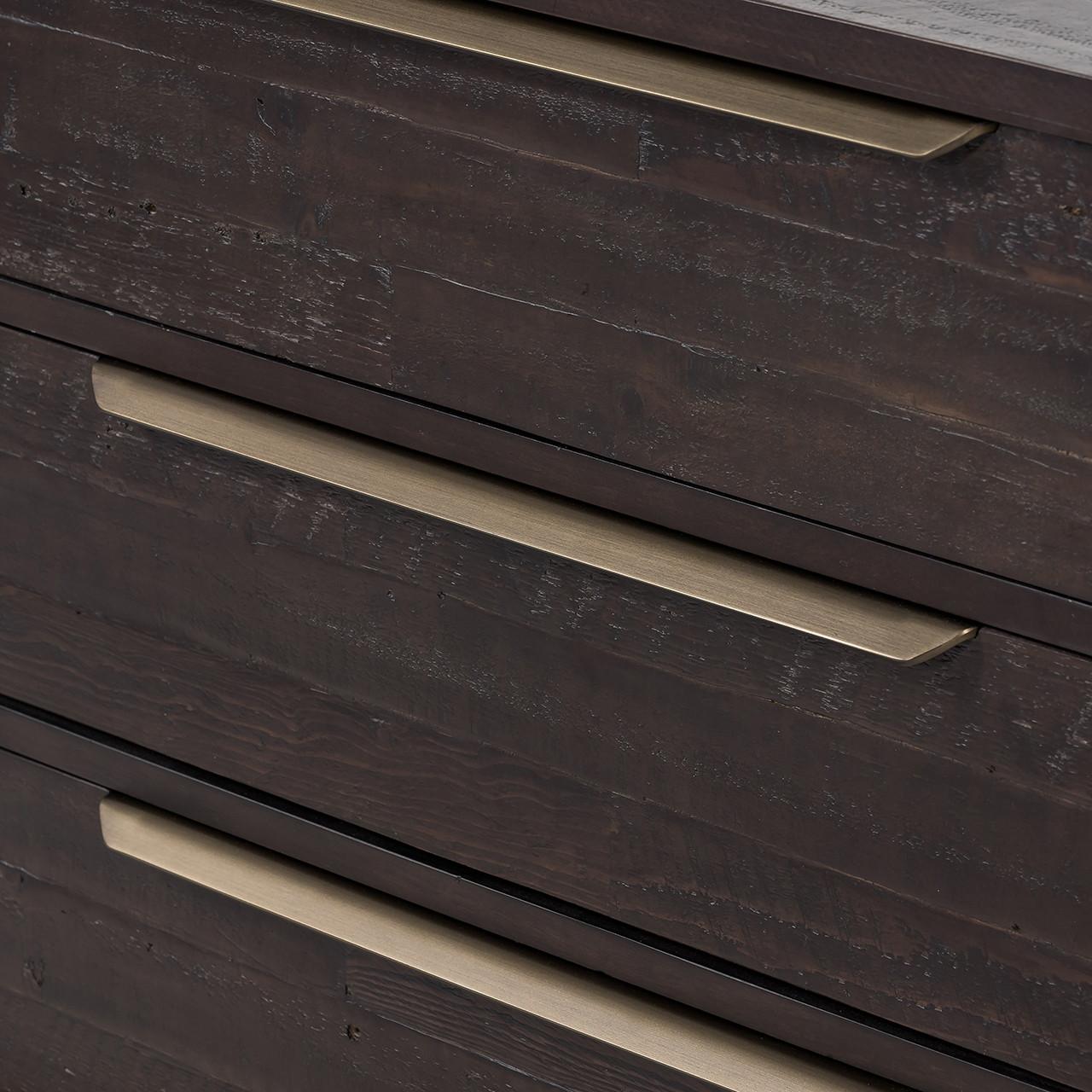 Seoul 6 Drawer Dresser - Dark Carbon
