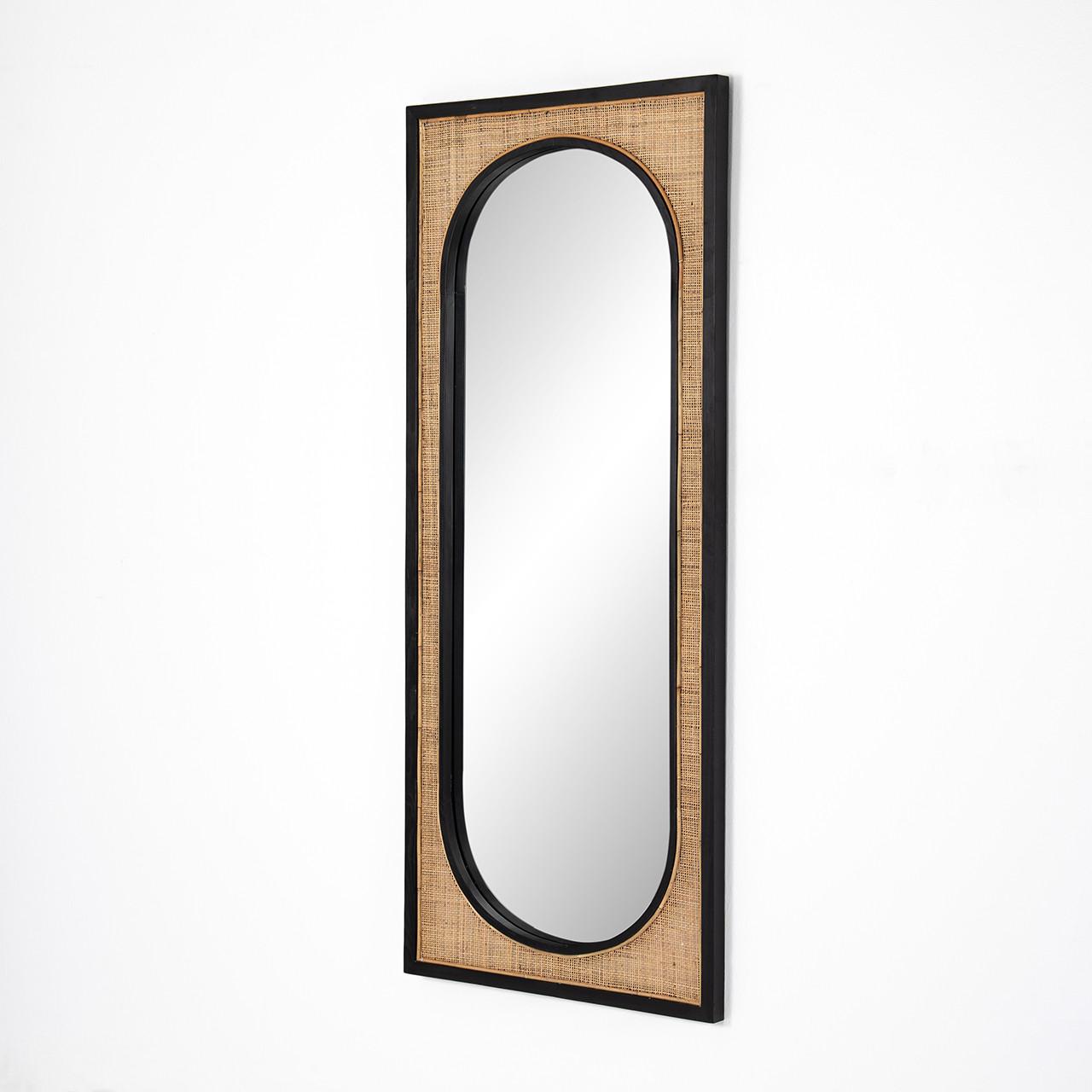 Candon Floor Mirror - Ebony Black