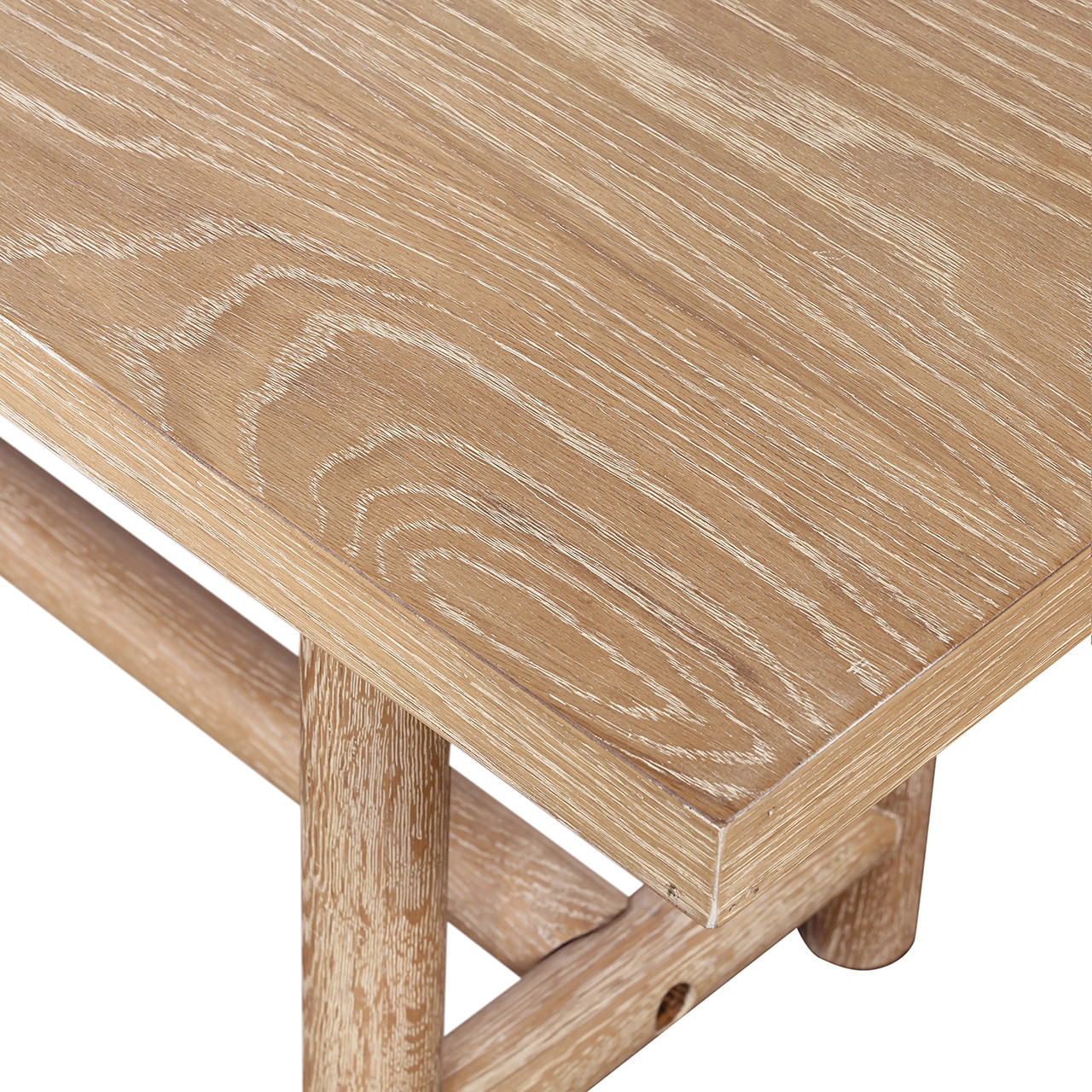 Mika Dining Bench - Whitewashed Oak