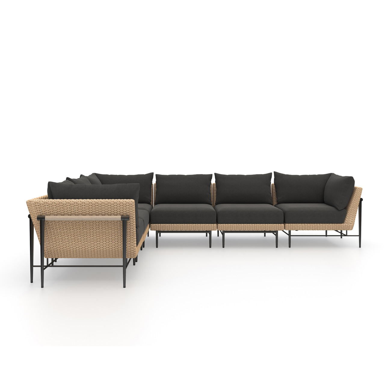 Charlotte Outdoor 6 PC Sectional-Natural
