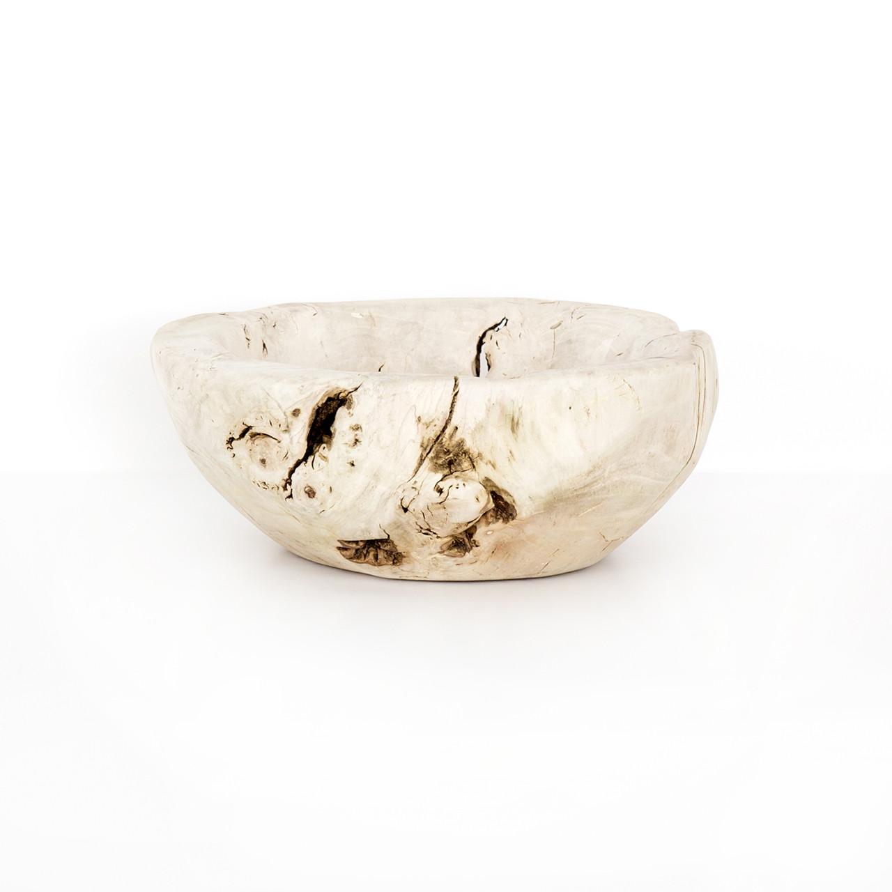 Reclaimed Wood Bowl - Ivory
