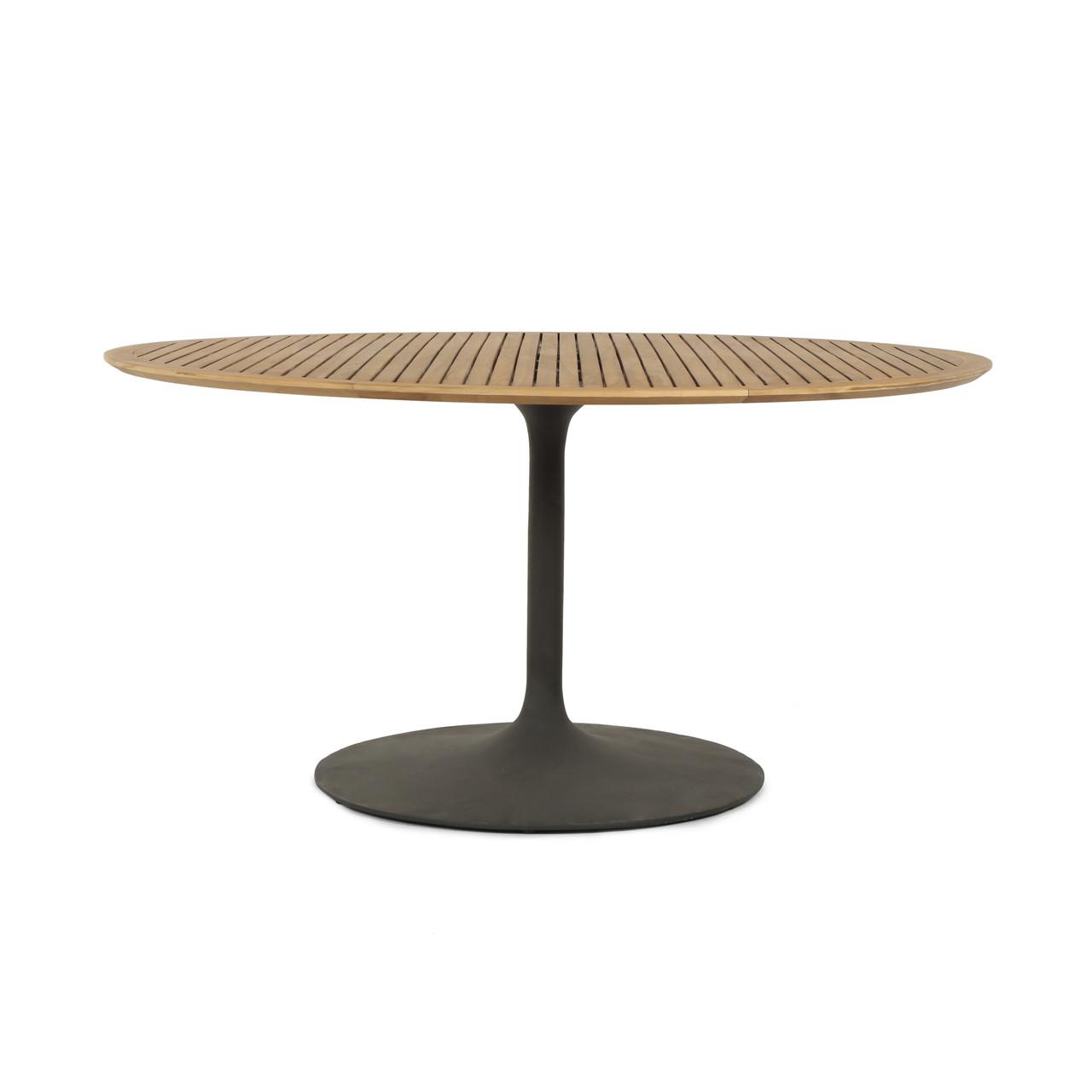 "Leo Outdoor Dining Table-54""-Nat Teak"