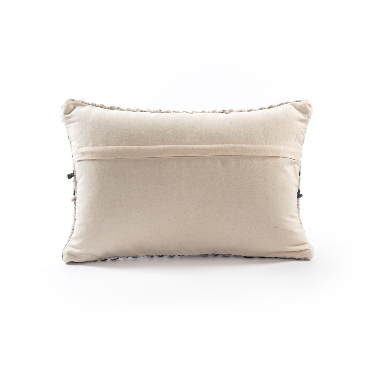 """Grey Patterned Pillow, Set of 2- 16x24"""""""