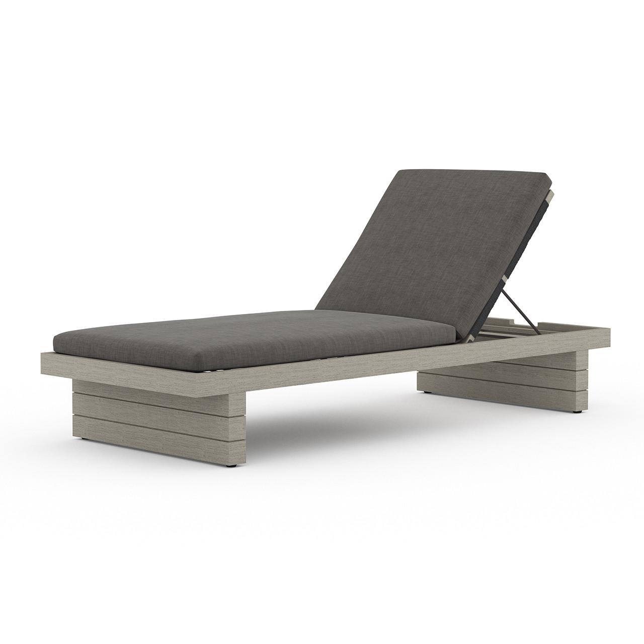 Royce Teak Outdoor Chaise - Weathered Grey