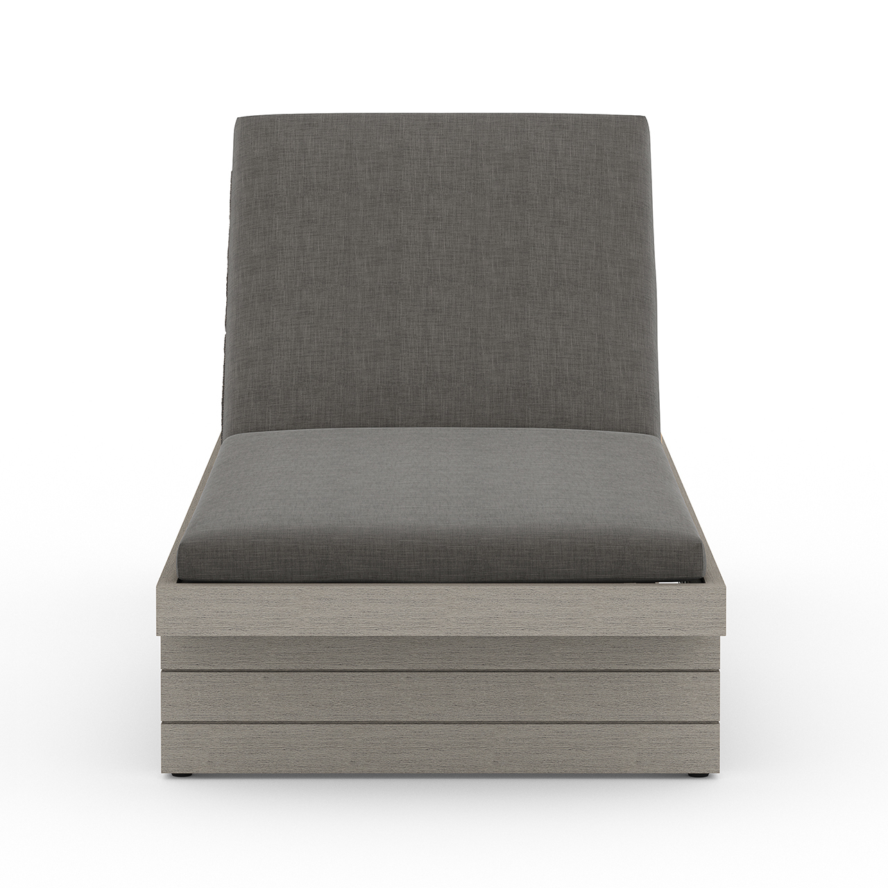 Lucy Outdoor Chaise - Grey/Charcoal