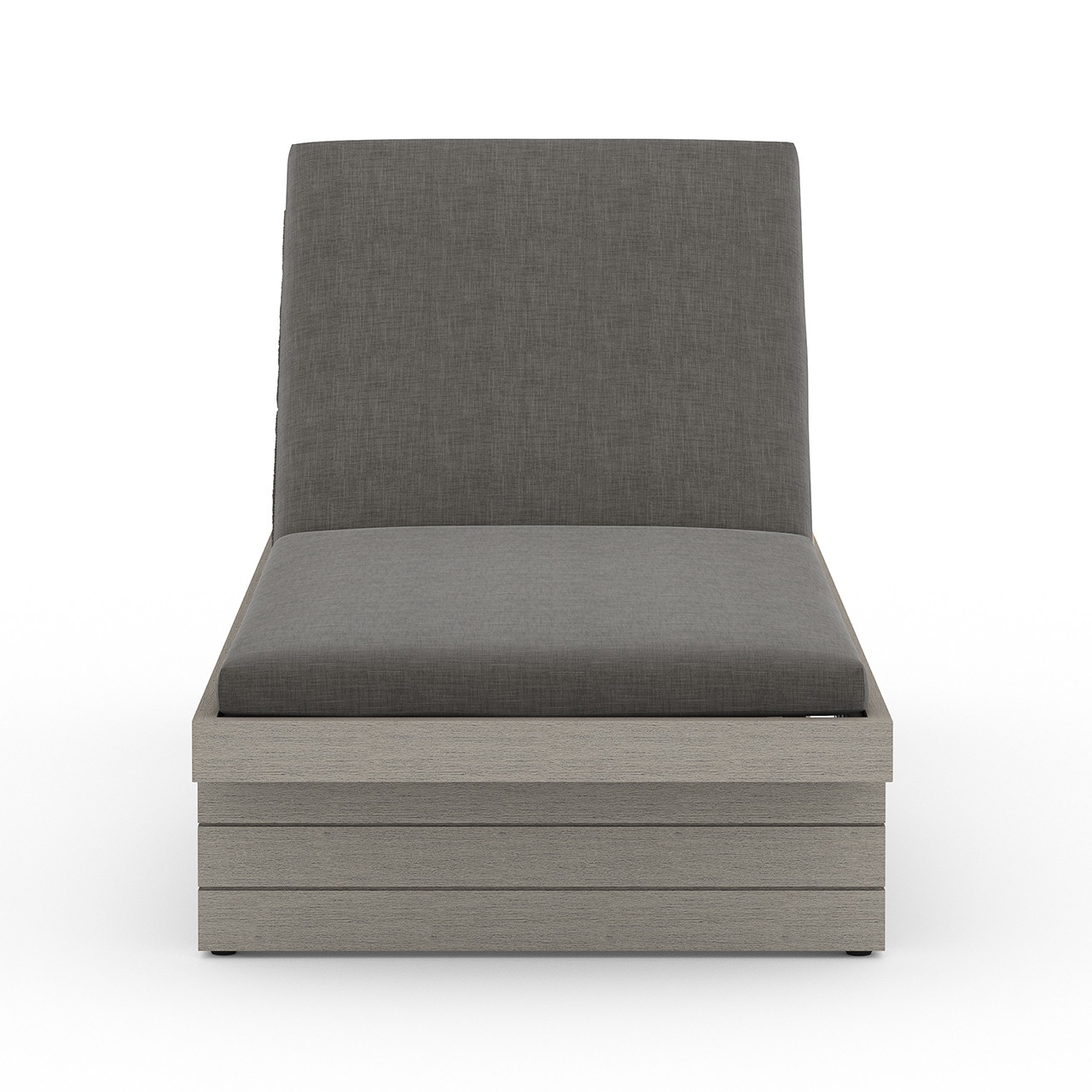Leroy Outdoor Chaise - Grey/Charcoal