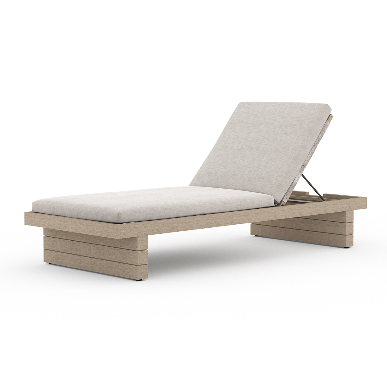 Lucy Outdoor Chaise - Brown/Stone Grey