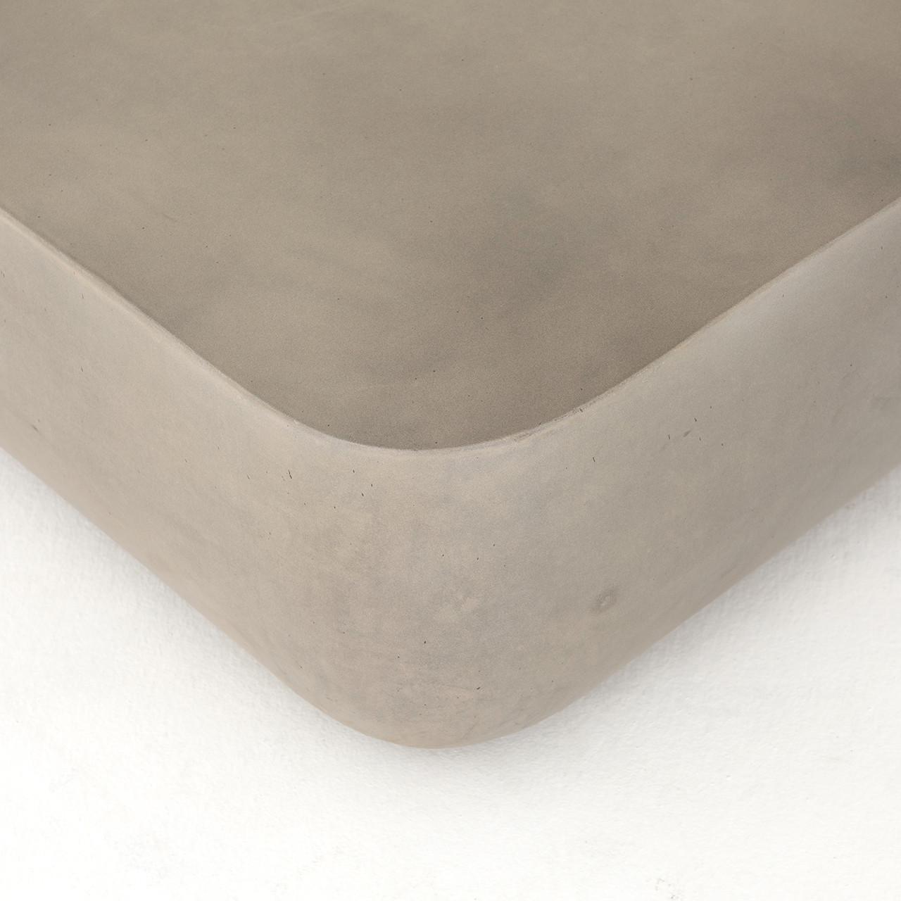 Isle Square Concrete Outdoor Coffee Table