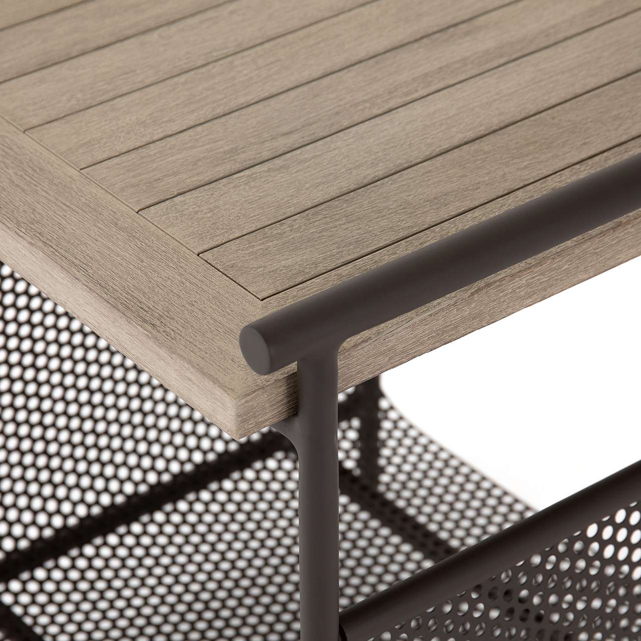 Ledger Outdoor End Table - Washed Brown
