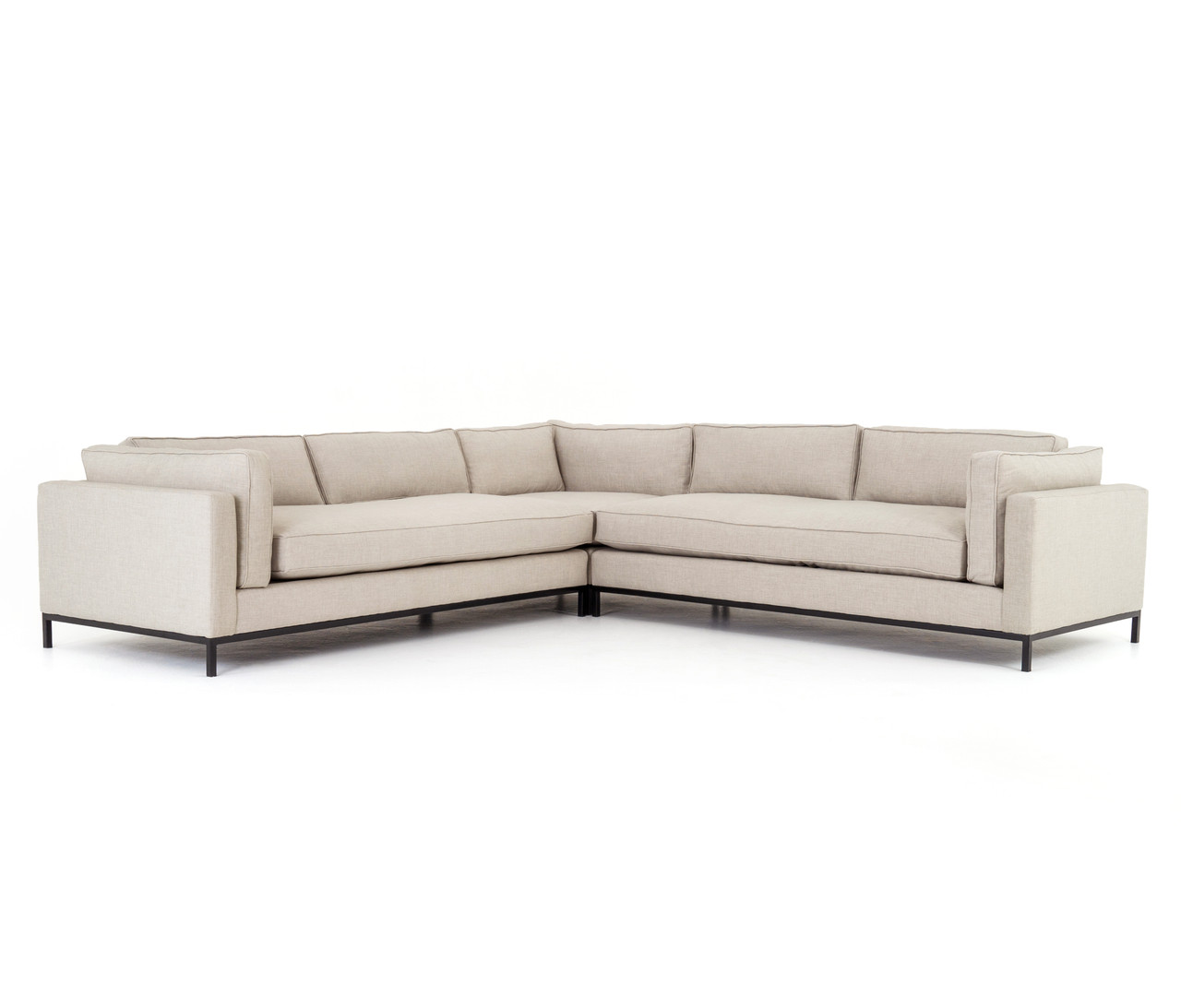 Adriana 3 - PC Sectional - Oak Sand
