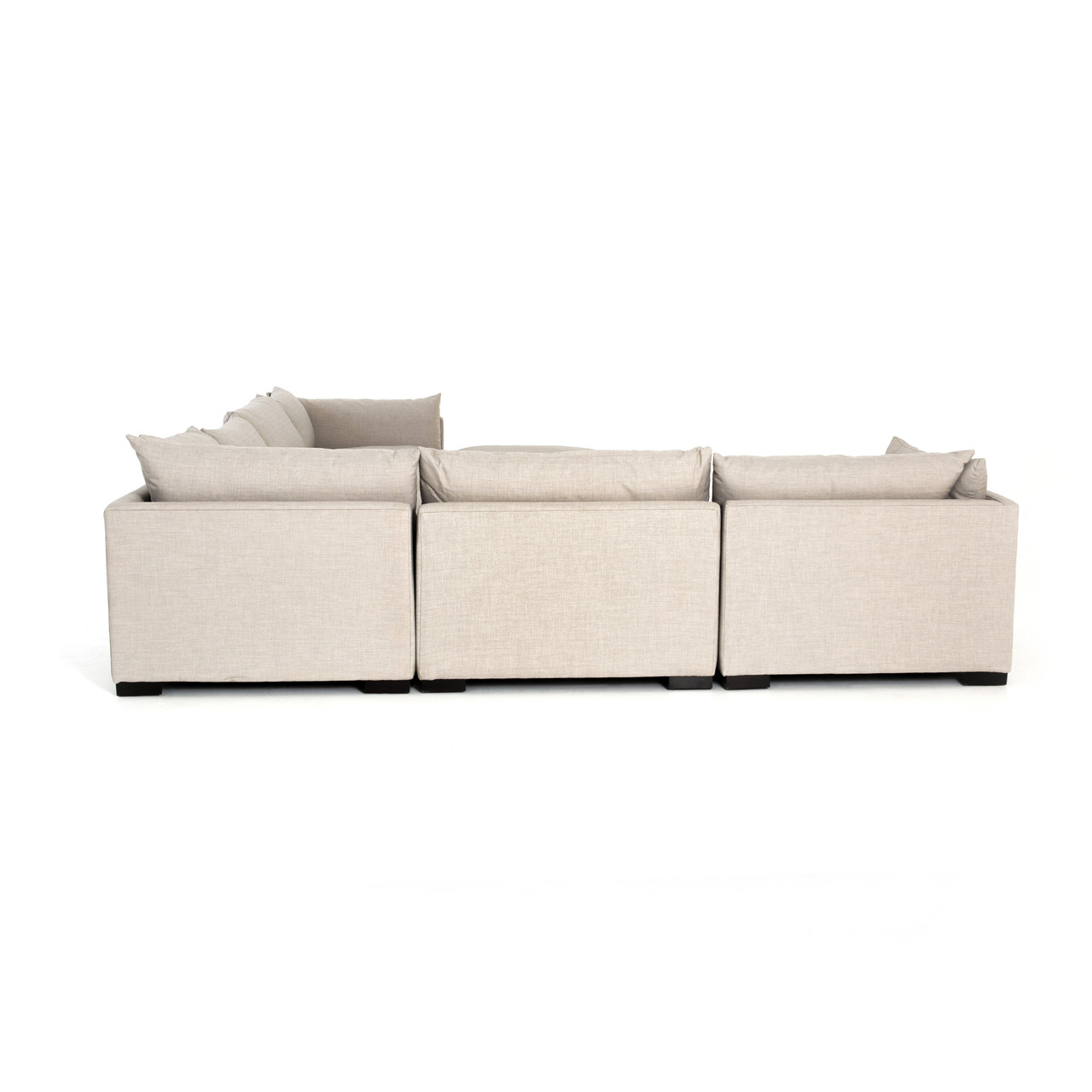 Zoe 6 - PC Sectional W/ Ottoman - Bm