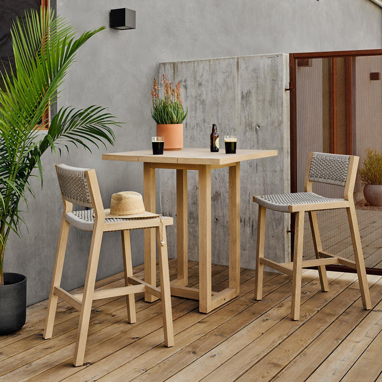 Tamarack Teak Outdoor Bar Table