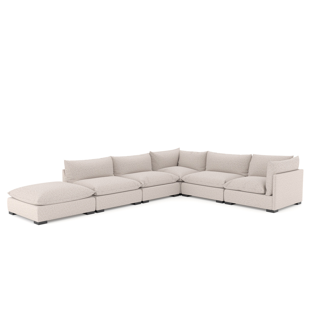 Zoe 5 Pc Sectional W/ Ottoman - Bs Pb