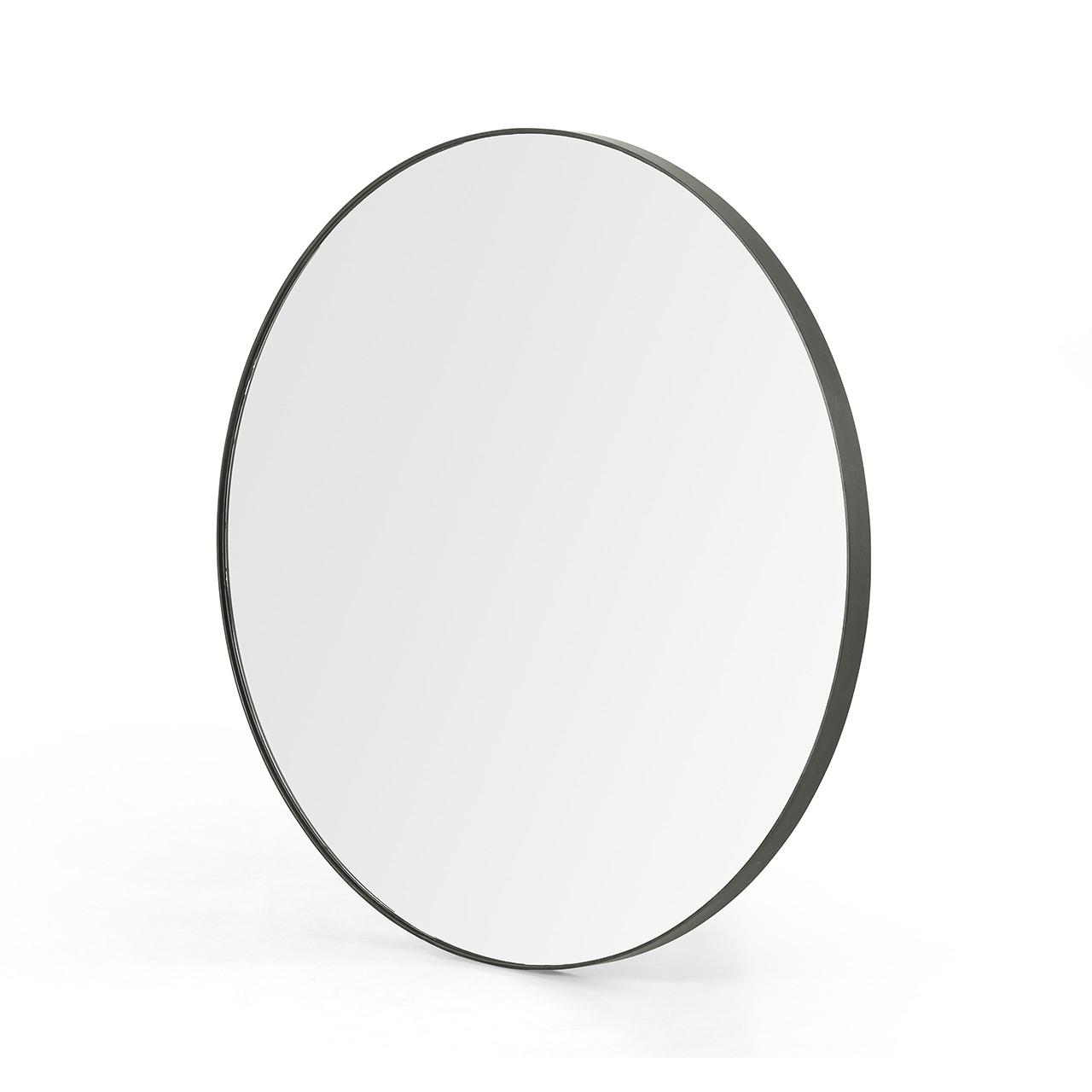 Berlin Round Mirror - Rustic Black