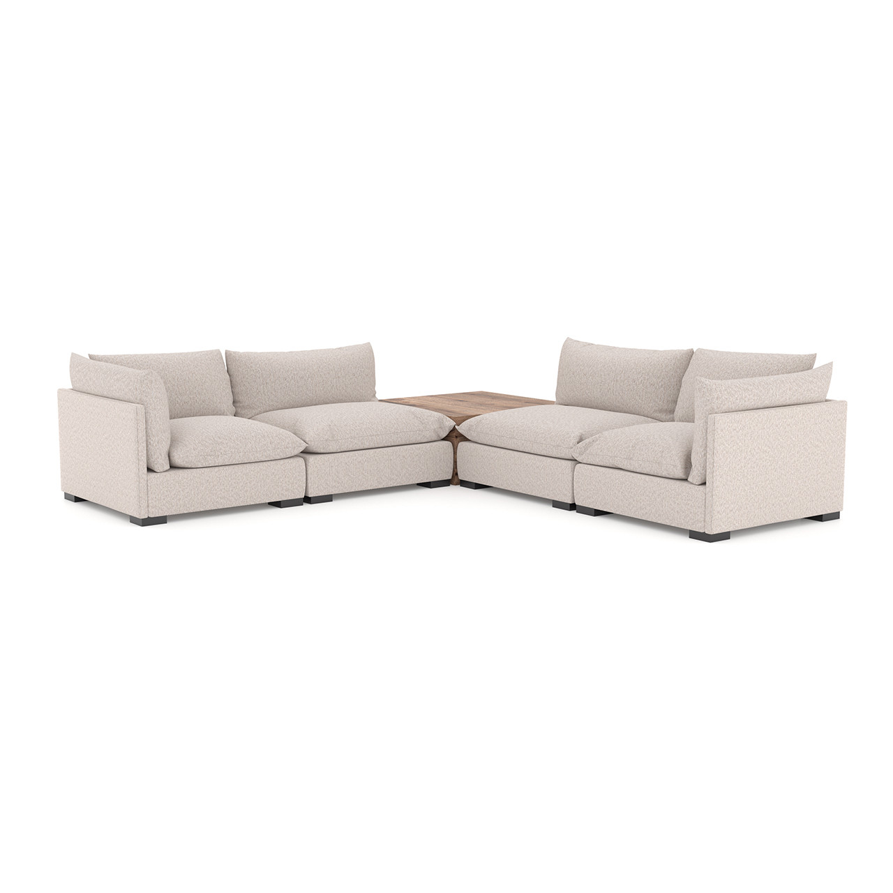 Zoe 4 Pc Sectional W/ Corner Table